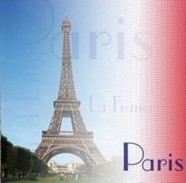 Scrapbook papier vakantie Parijs - 30.5 x 30.5 papier