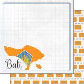 Bali - Adventure border - dubbelzijdig scrapbooking papier - 12 x 12 inch