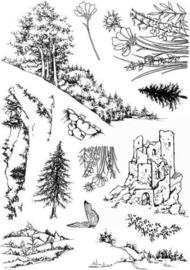 Countryside  Op het Platteland scene stempels