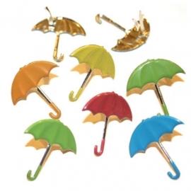 Decoratieve splitpen thema 12 stuks Paraplu
