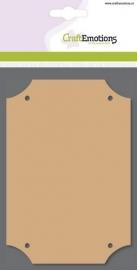 MDF rechthoek 10cm x 14,8cm x 3mm - 3 stuks in verpakking