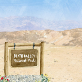 Death Valley National Park / California - scrapbook customs - 12x12 inch