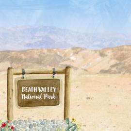 Death Valley National Park / California - scrapbook customs - 12x12 inch