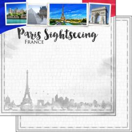 Paris City Sights  - dubbelzijdig scrapbook papier