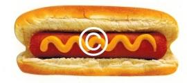 Hot Dog stans - stans decoratie - 8.5x4 cm