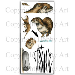 Otters - clear stamps