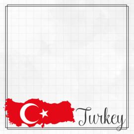 Turkey Adventure border - dubbelzijdig scrapbook papier