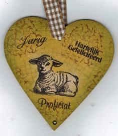 Houten decoratie hartjes 10 bij 10 centimeter 3 stuks