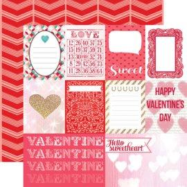 Scrapbookpapier Lucky in Love Journaling Cards
