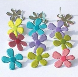 Brads - eyelet outlet - Stitched Bright Flowers