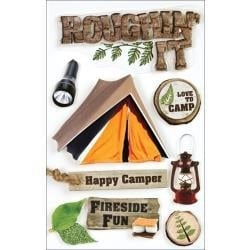 Roughin' it - 3D-Stickers