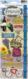 France La Vie en Rose - Frankrijk thema stickers - Sticky pix Paper House