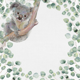 Koala -  watercolor - 30.5x30.5 cm - dubbelzijdig scrapbookpapier