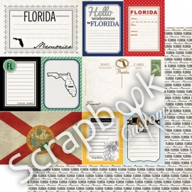 Florida - Journal - dubbelzijdig - 12x12 Papier - scrapbook customs