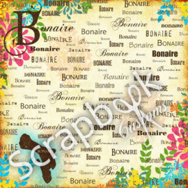 Bonaire - Paradise - dubbelzijdig scrapbook papier - 12x12 inch