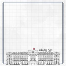 Buckingham Palace Adventure  - dubbelzijdig scrapbook papier
