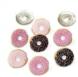 Donuts -  splitpen decoratie - zakje 12 stuks