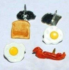 Ontbijt toast bacon egg splitpennen 12 stuks