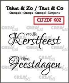 Crealies Tekst & Zo clear stamp - Kerst 02 (NL)