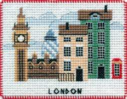London  kruissteek en halve steek Borduurpakket 10 x 8 centimeter