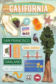 California travel stickers