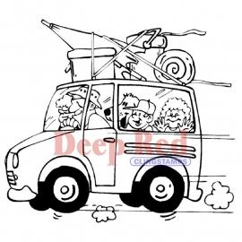 Autovakantie rubber hobbystempel