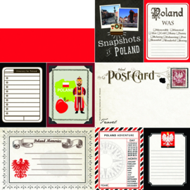 Poland scrapbook papier - 12 x 12 inch - scrapbook customs