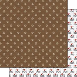 I love my Dog - dubbelzijdig 30.5x30.5 cm - scrapbookpapier