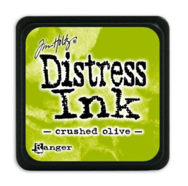 Mini  Distress inkt - Crushed Olive - waterbased dye ink / inkt op waterbasis - 3x3 cm