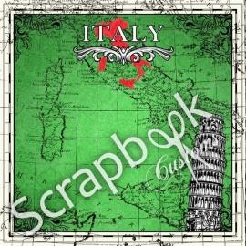 Italie sightseeing - 12x12 inch scrapbookpapier