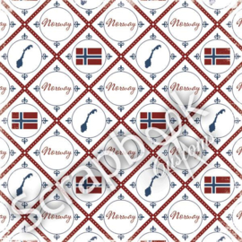 Norway - Discover - scrapbook papier