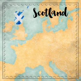 Scotland Map Sights- scrapbook papier