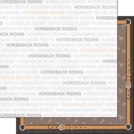 Paardrijden / Horseback Riding - dubbelzijdig 30.5x30.5 cm - scrapbookpapier