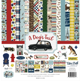 Scrapbook pakket A Dog's Tail - collection kit  30.5 x 30.5 cm