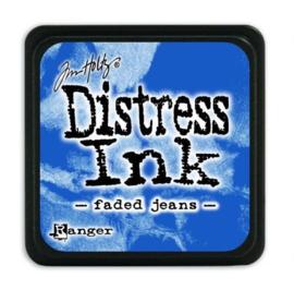 Mini  Distress inkt - Faded Jeans - waterbased dye ink / inkt op waterbasis - 3x3 cm
