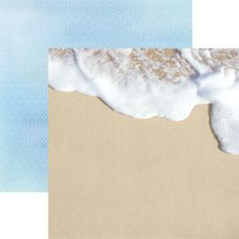 Schuim op het strand - 30.5x30.5 centimeter papier