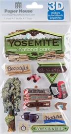 Yosemite 3D scrapbook  stickers