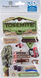 Yosemite 3D scrapbook  stickers