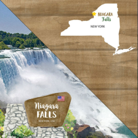 Niagara Falls - State New York  - dubbelzijdig scrapbook papier