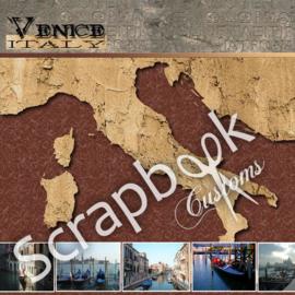 Venice met foto's - scrapbook pagina 30.5 x 30.5 cm