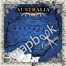 Scrapbook papier Australie kaart voor scrapbooking  12x12 inch