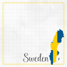 Sweden Adventure border - dubbelzijdig scrapbook papier
