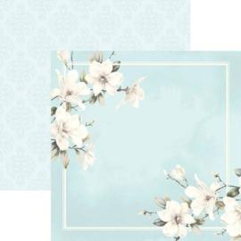 Witte bloesem - dubbelzijdig 30.5 x 30.5 centimeter scrap papier
