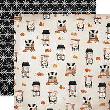 Carta Bella Scrapbook paperkit - Halloween herfst knutsel pakket inclusief gekleurd karton pakket 30.5 x 30.5 centimeter