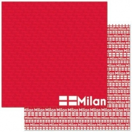 Milaan Italie scrapbook papier 30.5 x30.5 cm