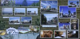 Las Vegas - Nevada scrappapier - links en rechts - 30.5 x 30.5 cm
