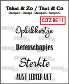 Crealies Tekst & Zo clear stamp - Beterschap 11 (NL)