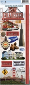 San Francisco incl. Golden Gate Bridge - sticky pix - cardstock stickers - Paper House