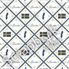 Sweden - Discover - scrapbookpapier - 30.5x30.5 cm