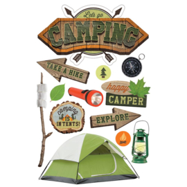 Camping - 3D pop up stickers
